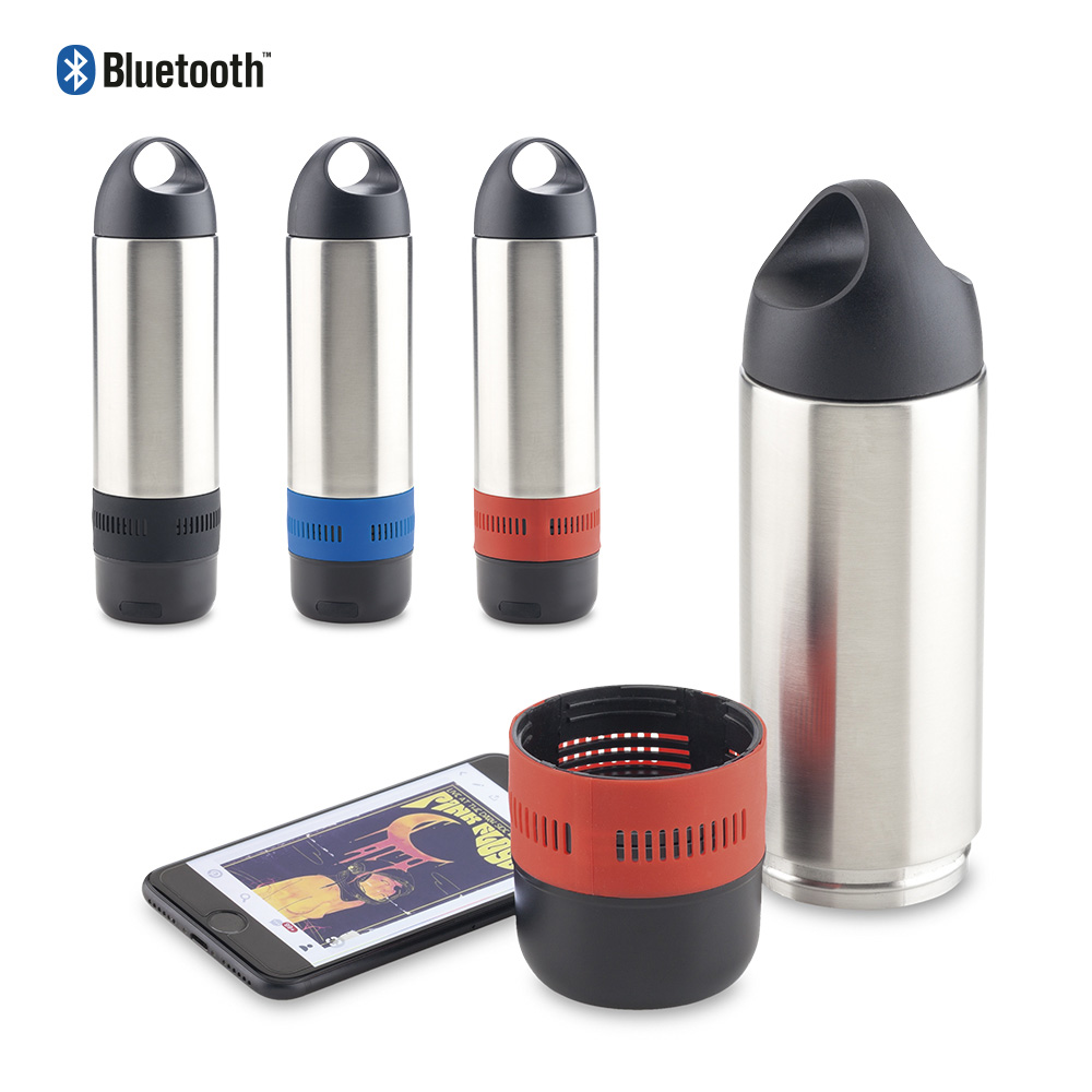 Botilito Metalico Sporty 350ml Con Speaker
